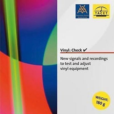 Tacet Vinyl Check Test Record / Free worldwide shipping