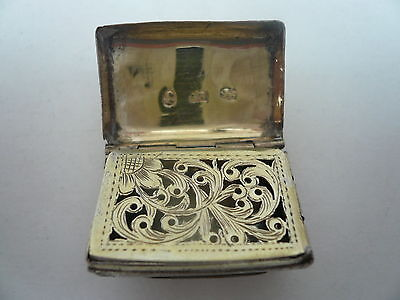 Silver Vinaigrette, Sterling, Antique, English, Hallmarked 1817, John Shaw.