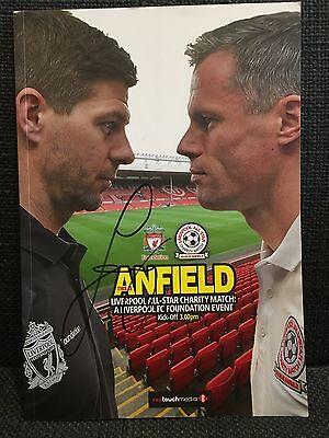 Liverpool All Star Charity Match Programme Signed By Jamie Carragher