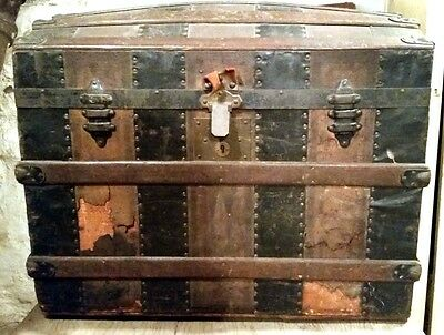Antique Humpback Steamer Trunk Lancaster PA