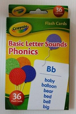 Crayola Flash Cards  (Basic Letter Sounds Phonics)