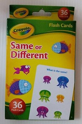 Crayola Flash Cards  (Same or Different)
