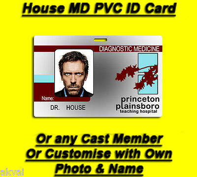 House MD Replica PVC ID Card Hugh Laurie OR Customise