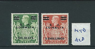 wbc. - GB Overprints - A28- BA SOMALIA - GEORGE V1 - 2 high values- MOUNTED MINT