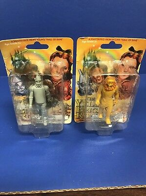 2005 wizard of oz figure mgm's hall of fame yellow brick road Lion Tin Man Minis