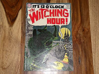 The Witching Hour #1 ~ Feb-Mar 1969, DC ~ CLASSIC NEAL ADAMS HORROR ~ SHARP COPY