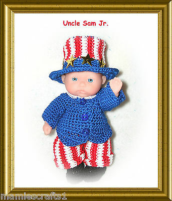 "5"" BERENGUER HOLIDAY DOLL OUTFITS- Made To Order"