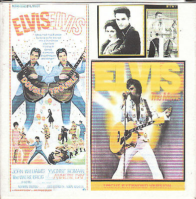 """""""DOUBLE TROUBLE/ELVIS THE MOVIE"""" Two trailers Super 8mm color sound 1x200''"""