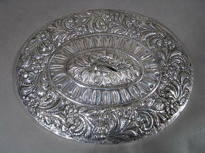 Old Hallmarked Ottoman Type Egyptian Silver Mirror Repousse Bird Middle East
