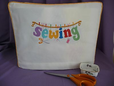 HANDMADE SEWING MACHINE DUSTCOVER 'SEWING' 18in x 13in x 8.5in