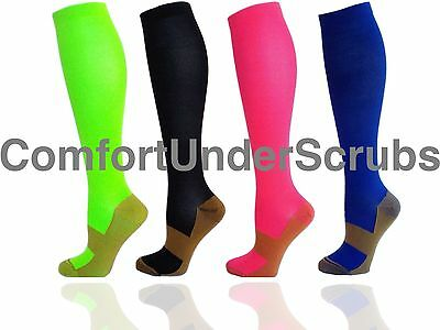 Runners & Crossfits Copper Infused Graduated Recovery Compression Socks Lot