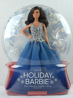 HOLIDAY African American Barbie Doll 2016 'The PEACE, LOVE, HOPE Collection'