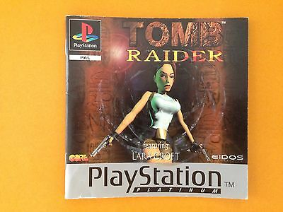 Tomb Raider  PS1  game manual only, multi languages