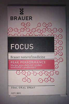 Brauer FOCUS 20ml oral spray, homeopathic, for stressful conditions, see below!!