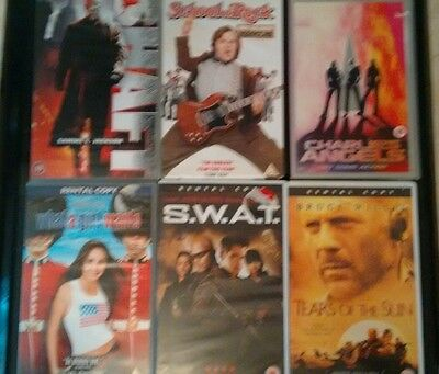 JOB-LOT OF.. 29.BIG BOX.. EX RENTAL.. VHS TAPES..see photos for titles