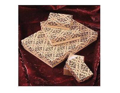 Kraft Damask Cotton Filled Jewelry Boxes Jewelry Gift Boxes Lot 20~50~100~500 Pc