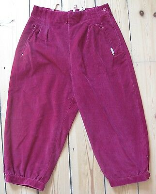 VTG 30s 40s style burgundy cord plus fours jodphurs shorts cropped trousers. 8