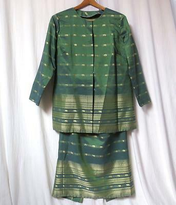 Gorgeous Custom Made Woman's 2 pc Skirt Suit Ethnic Silk Clothing India Indian