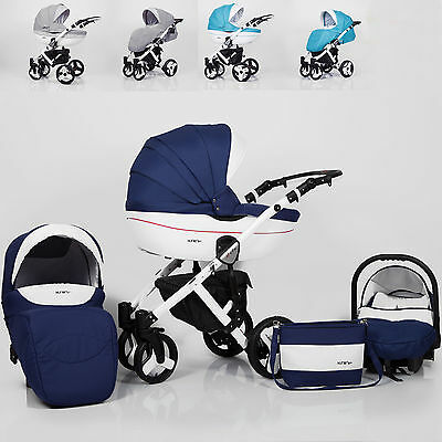 Baby Pram Stroller Pushchair Car Seat Carrycot Travel System Buggy FREEBIES