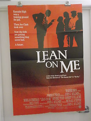 Lean On Me One 1 Sheet Movie Poster Morgan Freeman Beverly Todd Robert Guillaume