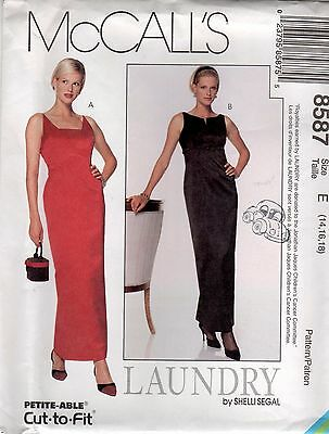 *McCall's 8587 Bombshell Evening Dress Sewing Pattern Uncut Size 14-16-18