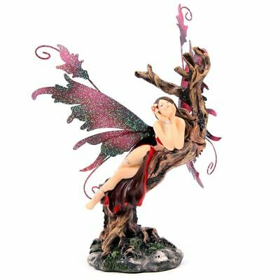 Legends of Avalon - Fairy Daydreaming on Tree Figurine