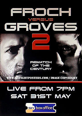 CARL FROCH vs. GEORGE GROVES (2) / Original SKY Sports Boxing Promotional Poster
