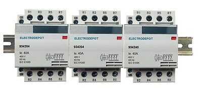12 pole Contactor 30AMP 120V Electrically Held Lighting 32a 40a 50a DIN N/O 4x3