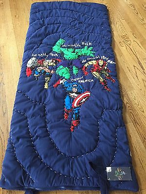 NWT Pottery Barn Kids Marvel Avengers Super Hero Sleeping Bag-NO MONO