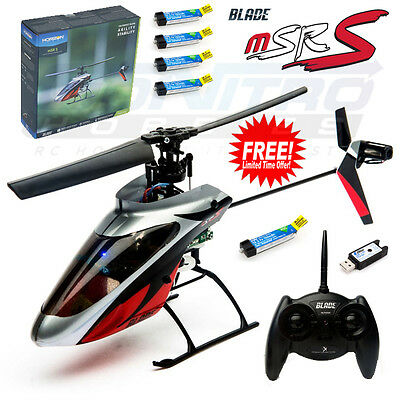 Blade BLH2900 mSR S RTF Helicopter SAFE Tech w/ Radio + FREE 4X Lipo Batteries