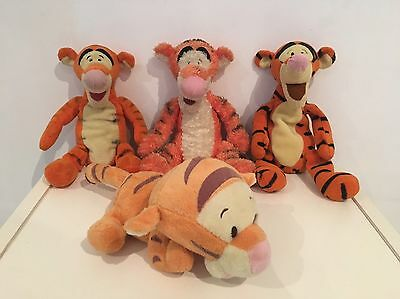 Lot De 4 Peluches Tigrou 23 Cm  , Ami De Winnie L'ourson Disney Doudou