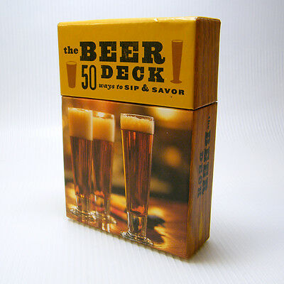 THE BEER DECK - 50 Ways to Sip & Savor Cards Chronicle Books