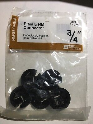 3/4 In. Pro Connect Plastic Connectors 5 Pack