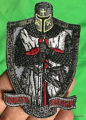 DEUS VULT TEMPLAR KNIGHTS patch CRUSADER tactical military Morale CROSS SWORD