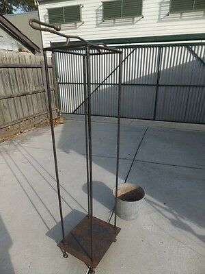 Steel Fire wood stand with fire poker - unique item - one off piece