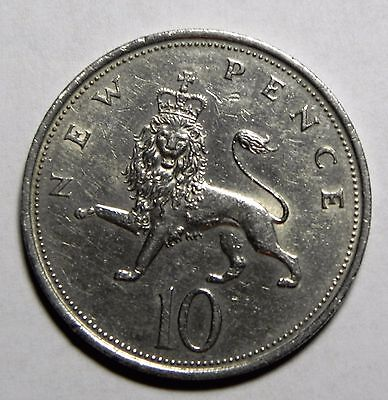 1970 Great Britain 10 New Pence Uk Coin