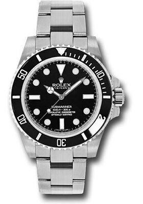 New Rolex Black Submariner Stainless Steel Box/Papers 114060 2010-Till Now