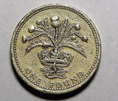 1984 Great Britain (Uk) One Pound Coin!!  Very Nice World Coin