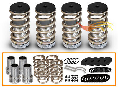 BCP Gold 98-02 Honda Accord Adjustable Lowering Coilover Coil Spring Kit