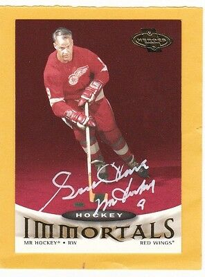 Auto Signed Gordie Howe 1991 Ud Hockey Immortals # 125 Autograph Mint