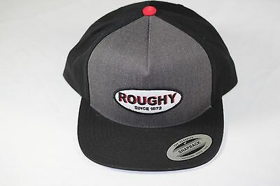 """reputable site 4c1b0 31c5a New HOOey """"Roughy Circle Patch"""" Heather Grey and Black Snapback OSFA"""