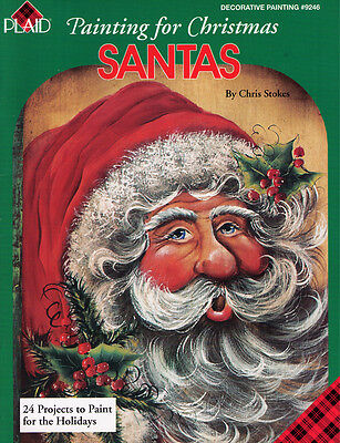 Painting for Christmas SANTAS - 24 Projects - Chris Stokes PLAID #9246