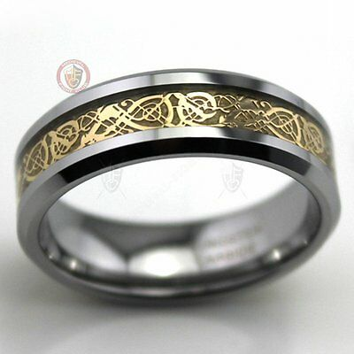 Celtic Ring Gold Dragon Weave Size 9