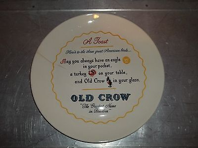 """Vintage Old Crow Advertising Plate Rare - Decor Plate - Plaque - Sign 10"""""""
