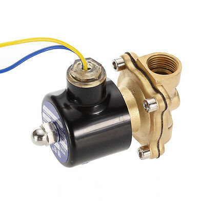 12V 2-Way Brass Electric Solenoid Valve Water Air Fuels Gas Normal Closed Diesel