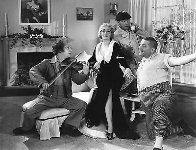THREE STOOGES ~ Larry Curly & Moe  8x10 Photo ~  Picture w/ Mildred Harris