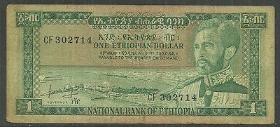 Ethiopia $1 Dollar P.25 (Vf) From 1966.