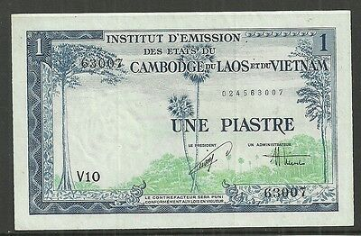 French Indo-China $1 Piastre=1 Dollar P.105 (Ef+) From 1954.