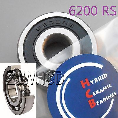 6200 2RS Si3N4 Hybrid Ceramic Ball Bearing Rubber Sealed 10 x 30 x 9mm