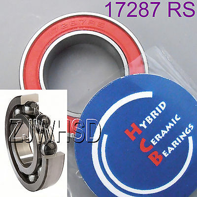 17287 2RS Si3N4 Hybrid Ceramic Ball Bearing Rubber Sealed 17 x 28 x 7mm